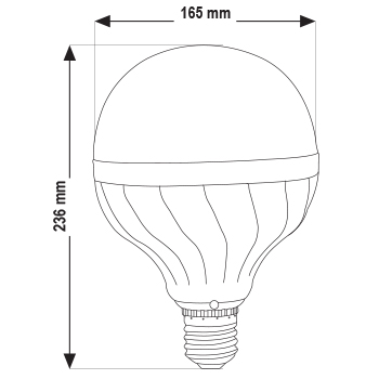 تصویر گرافیکی لامپ حبابی گرد پارس شهاب